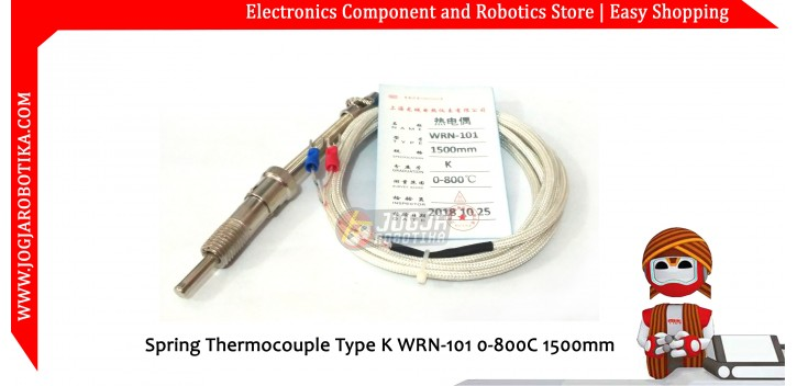 Spring Thermocouple Type K WRN-101 0-800C 1500mm