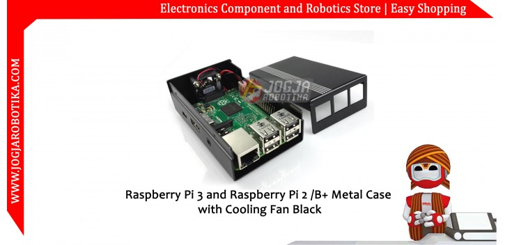 Raspberry Pi2 Pi3 B/B+ Aluminium Alloy Metal Case-Black