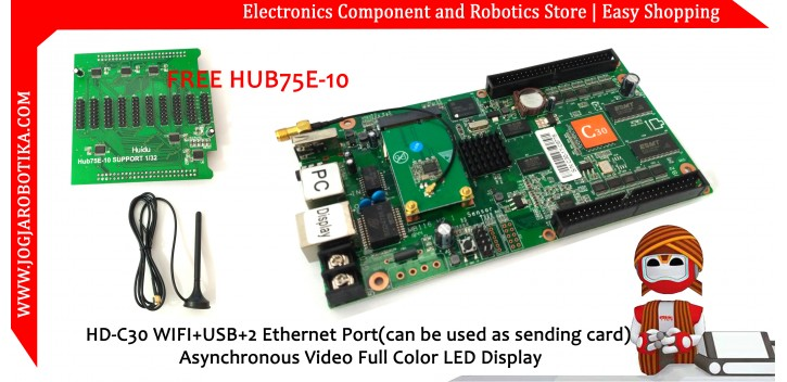 HD-C30 WIFI+USB+2 Ethernet Port(can be used as sending card) Asynchronous Video Full Color LED Display