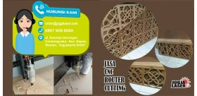 CNC Router Cutting Jasa Potong Triplek ACP MDF Jogja Laser 0897 909 6060