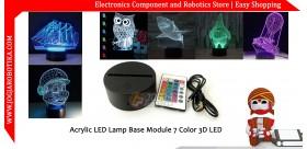 Acrylic LED Lamp Base Module 7 Color 3D LED