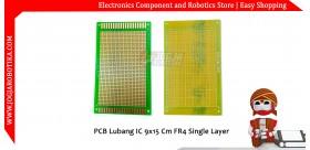PCB Lubang IC 5x9 Cm FR4 Single Layer
