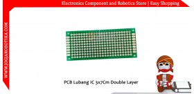 PCB Lubang IC Double Layer 3x7 Cm