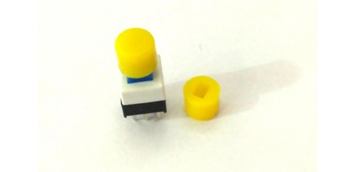 Cap Self-locking Square Push Button Switch-Kuning