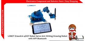 LOBOT DrawArm 4DOF Robot Servo Arm Writing Drawing Robot with APP Bluetooth