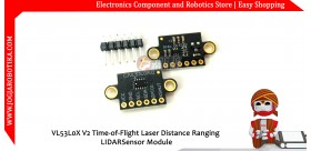 VL53L0X V2 Time-of-Flight Laser Distance Ranging LIDAR Sensor Module