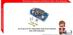 5A XL4015 DC-DC Adjustable Step Down Module with USB Voltmeter