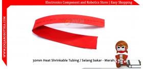 30mm Heat Shrinkable Tubing / Selang bakar - Merah