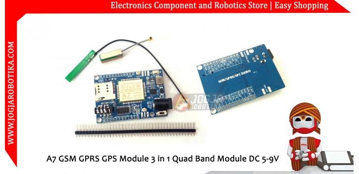 A7 GSM GPRS GPS Module 3 in 1 Quad Band Module DC 5-9V