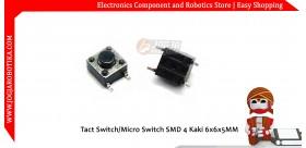 Tact Switch/Micro Switch SMD 4 Kaki 6x6x5MM