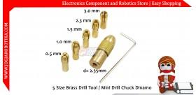 5 Size Brass Drill Tool / Mini Drill Chuck Dinamo