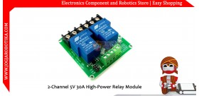 2-Channel 5V 30A High-Power Relay Module