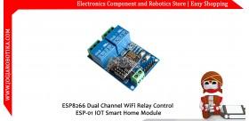 ESP8266 Dual Channel WiFi Relay Control ESP-01 IOT Smart Home Module
