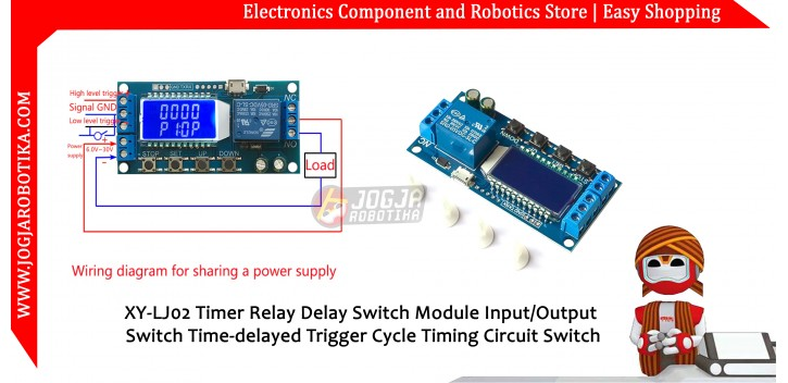 XY-LJ02 Timer Relay Delay Switch Module Input/Output Switch Time-delayed  Trigger Cycle Timing Circuit Switch