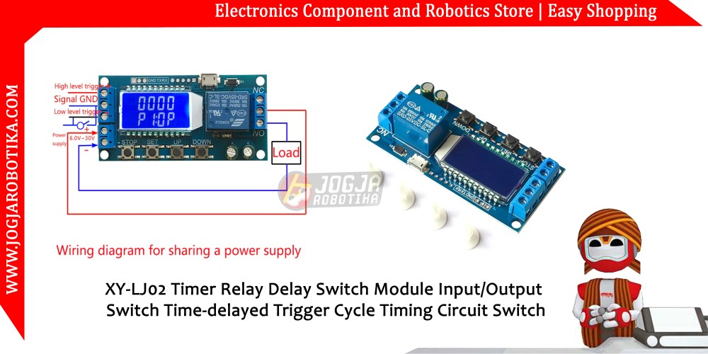 XY-LJ02 Timer Relay Delay Switch Module Input/Output Switch Time
