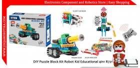 DIY Puzzle Block Kit Robot Kid Educational 4in1 R721