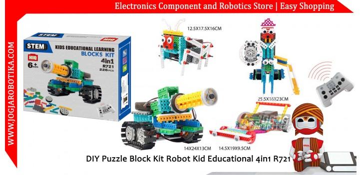 DIY Puzzle Block Kit Robot Kid Educational 4in1 R721