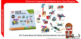 DIY Puzzle Block Kit Robot Kid Educational 12in1 B711