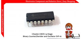 CD4060 CMOS 14-Stage Binary Counter/Devider and Oscilator DIP-16
