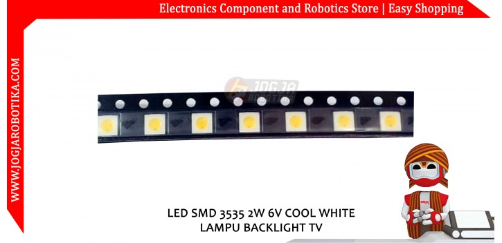 LED SMD 3535 2W 6V COOL WHITE LAMPU BACKLIGHT TV