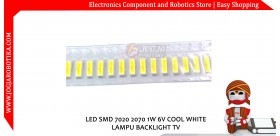 LED SMD 7020 2070 1W 6V COOL WHITE LAMPU BACKLIGHT TV