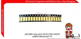 LED SMD 7030 3070 1W 6V COOL WHITE LAMPU BACKLIGHT TV