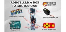 PAKET ROBOT TANGAN ARM KIT 6DOF ARDUINO UNO