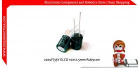 220uF/35V ELCO 10x12.5mm Rubycon