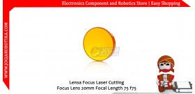 Lensa Focus Laser Cutting Focus Lens 20mm Focal Length 75 f75