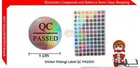 Sticker Pelangi Label QC PASSED Hologram