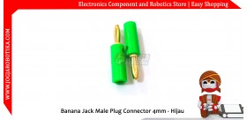 Banana Jack Male Plug Connector 4mm - Merah