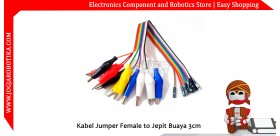 Kabel Jumper Female to Jepit Buaya 3.5cm