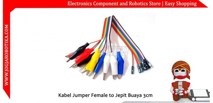 Kabel Jumper Female to Jepit Buaya 3.5cm