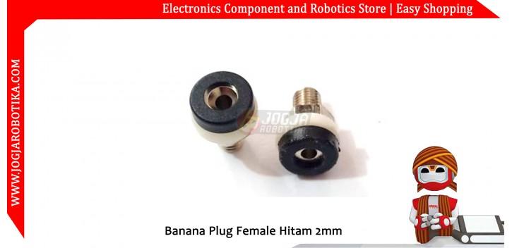 Banana Plug Female Hitam 2mm