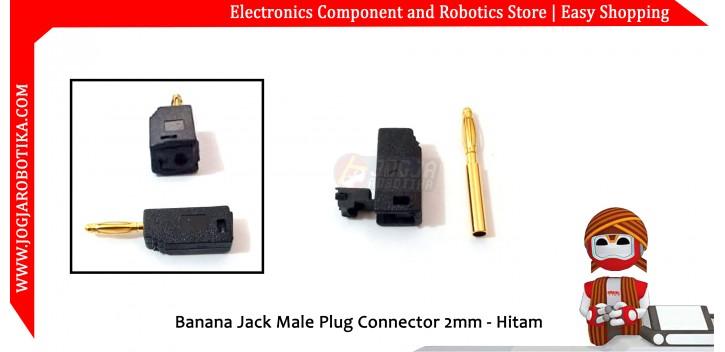 Banana Jack Male Plug Connector 2mm - Hitam
