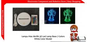 Lampu Hias Akrilik 3D Led Lamp Base 7 Colors White Color Model
