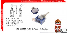 MTS-103 SPDT On-Off-On Toggle Switch 3pin