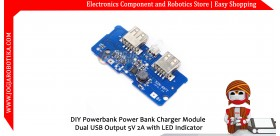Power Bank Charger Module Dual USB Output 5V 2A with LED Indicator