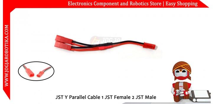 JST Y Parallel Cable 1 JST Female 2 JST Male