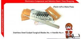 Stainless Steel Scalpel Surgical Blades No. 11 Handle No.11