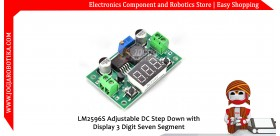 LM2596S Adjustable DC Step Down with Display 3 Digit Seven Segment