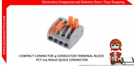 COMPACT CONNECTOR 4-CONDUCTOR TERMINAL BLOCK PCT-214 WAGO QUICK CONNECTOR