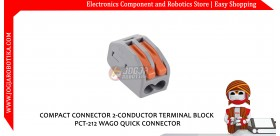 COMPACT CONNECTOR 2-CONDUCTOR TERMINAL BLOCK