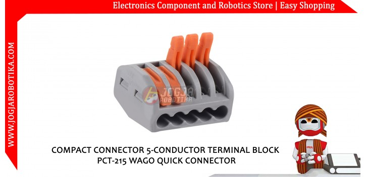 COMPACT CONNECTOR 5-CONDUCTOR TERMINAL BLOCK PCT-215 WAGO QUICK CONNECTOR