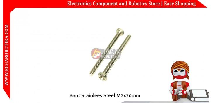 Baut Stainlees Steel M2x20mm