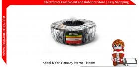 Kabel NYYHY 2x0.75 Eterna - Hitam