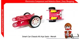 Smart Car Chassis Kit A30 Sasis - Merah