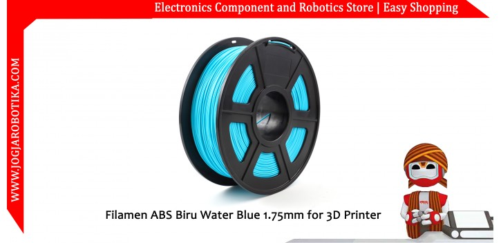 Filamen ABS Biru Water Blue 1.75mm for 3D Printer