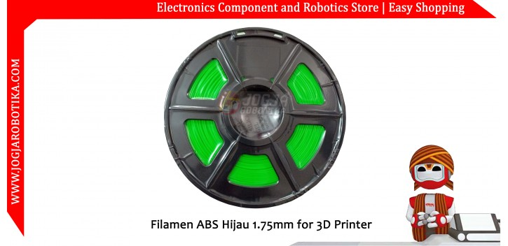 Fillament ABS Hijau Fluorescent 1.75mm for 3D Printer