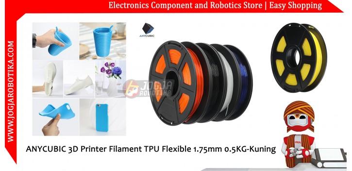 ANYCUBIC 3D Printer Filament TPU Flexible 1.75mm 0.5KG-Kuning
